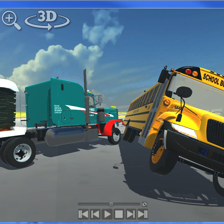 Interactive Animations Semi Bus Accident