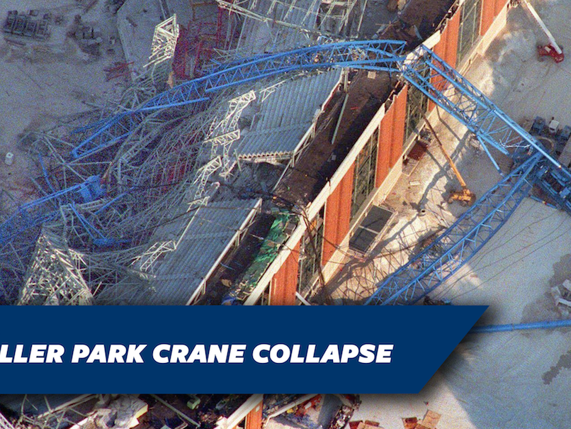 Image of the 1999 Miller Park crane collapse