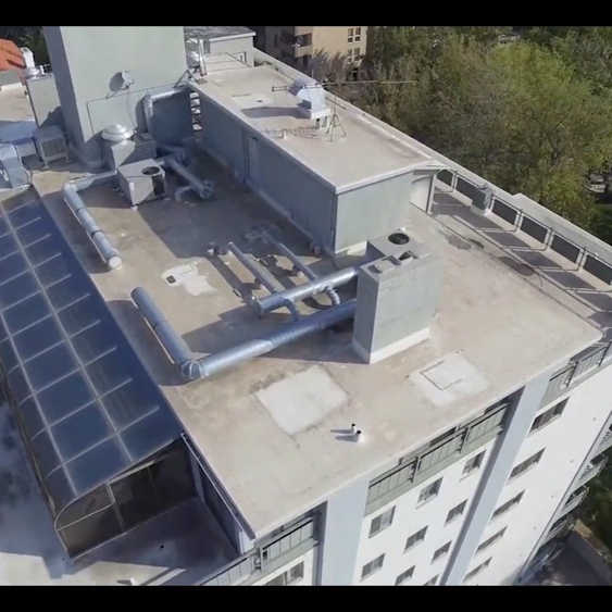 High-tech drone is used for roof investigations.