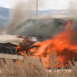 Car Fire at Fire Training Summit