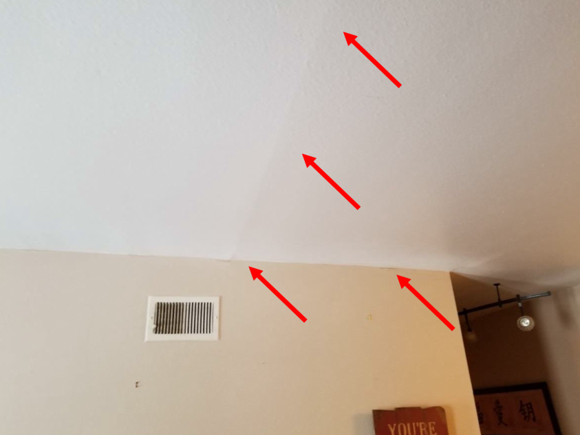 example of drywall distresses