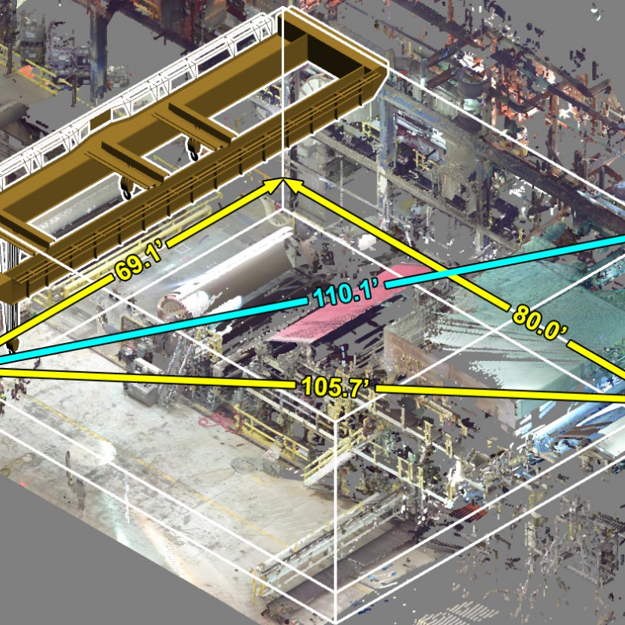 overhead crane line of sight study