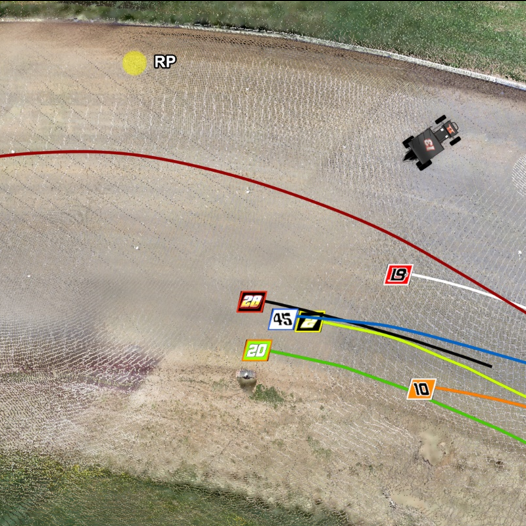 Image of sprint car paths analysis in fatal track accident