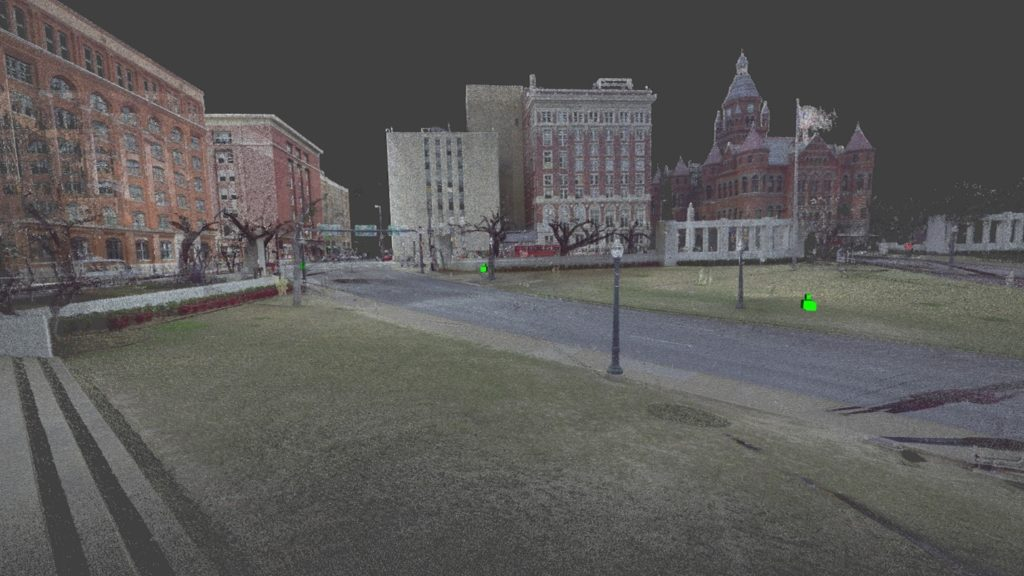 High-definition laser scan of Dealey Plaza