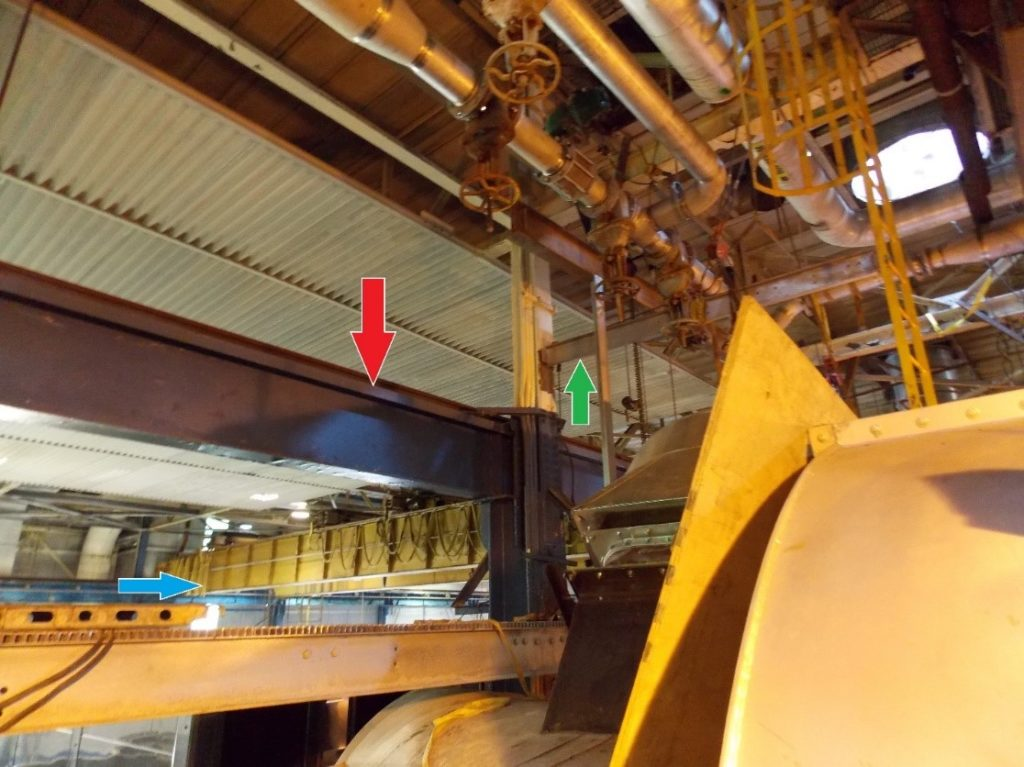 overhead crane in warehouse
